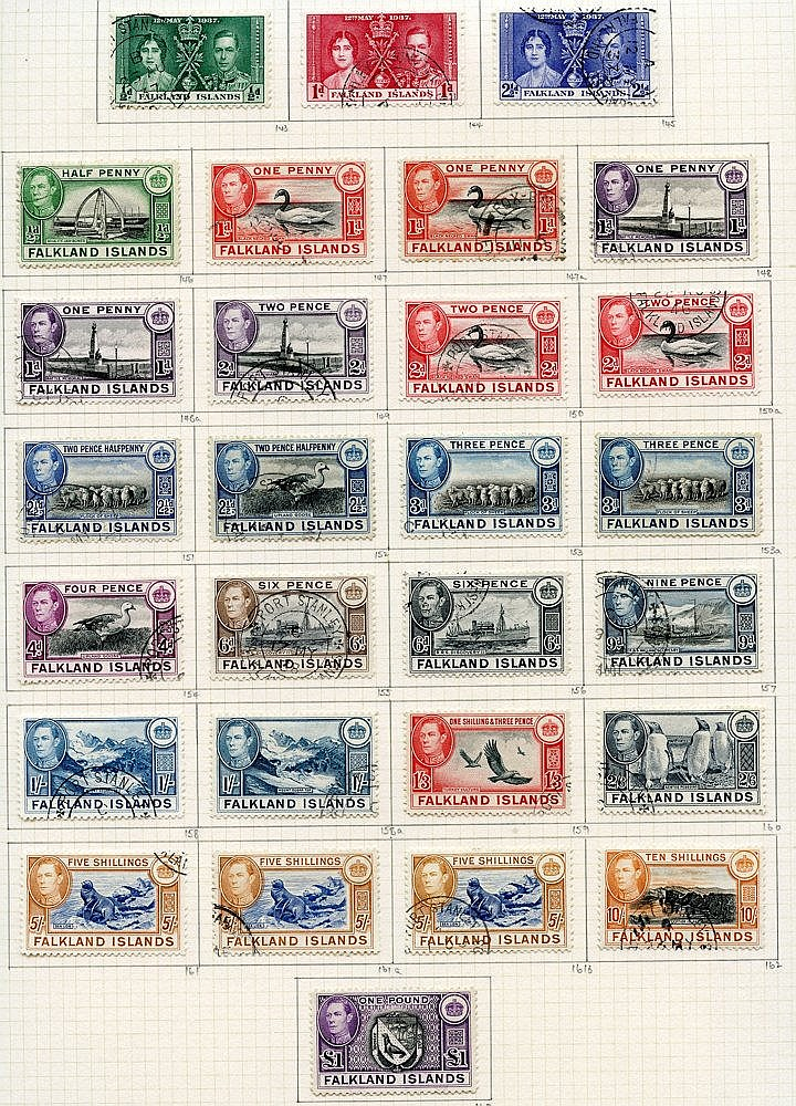 1937-52 collection U on philatelic leaves with 1938 set + extras,