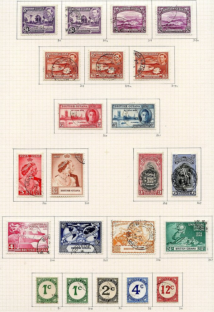 1937-52 collection U on philatelic leaves with all shades & perfs