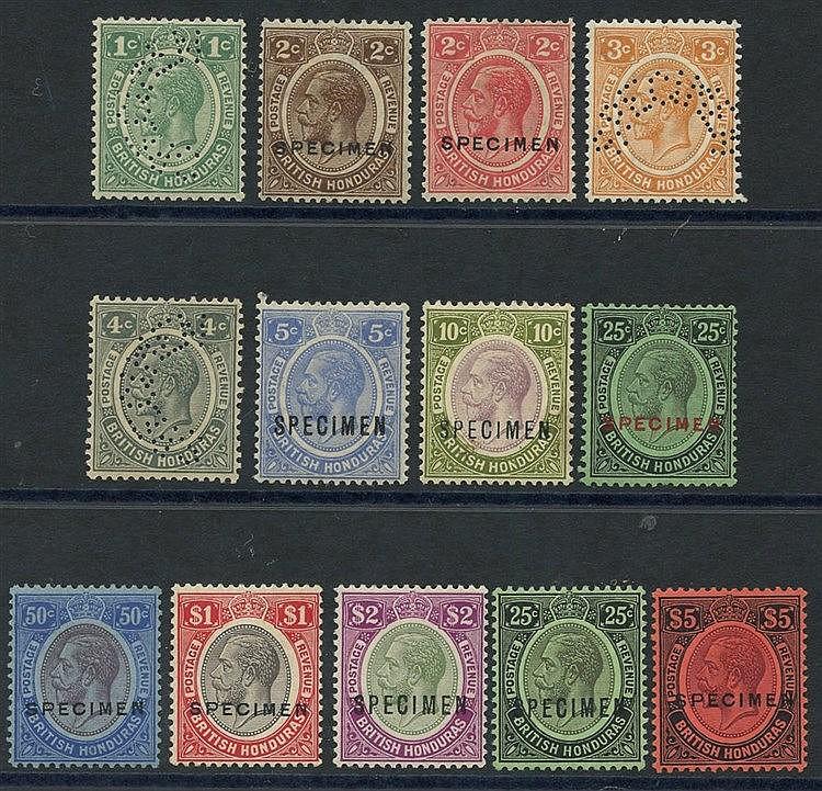 1922-33 MCCA & MSCA set optd or perf SPECIMEN, fine M, SG.124s/13