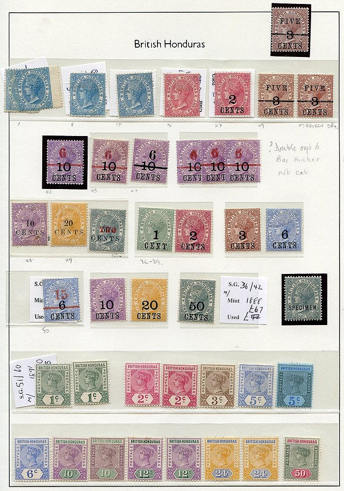 1865-1990 M or UM collection housed in a Lighthouse hingeless alb