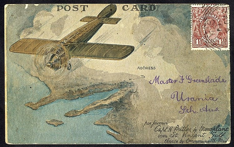 1919 Harry Butler St. Vincent flight Adelaide - Minlaton official