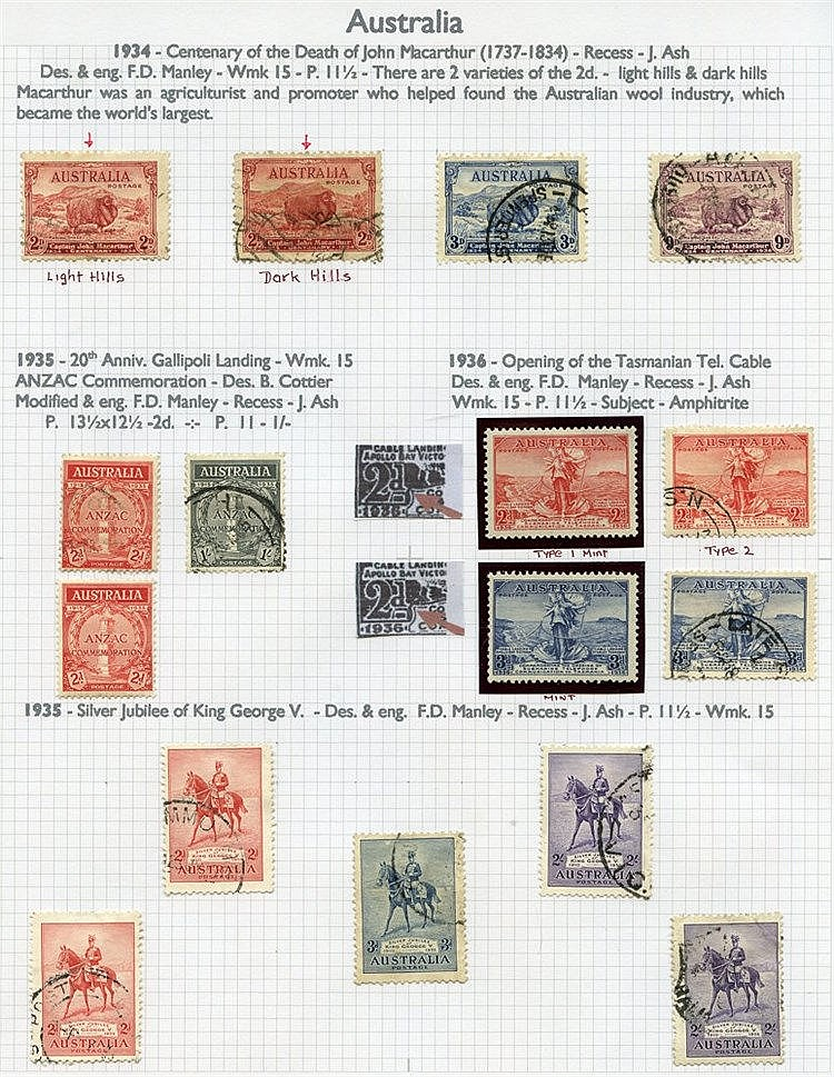 AUSTRALIA & STATES 1913-2000 collection of M & U housed in four A