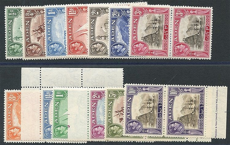 1939 KGVI Defin set in UM vertical pairs, SG.16/27 incl. several