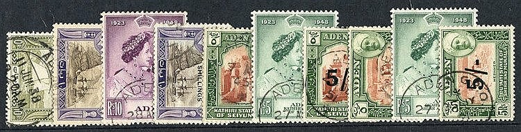 ADEN & STATES 1937-51 collection U on philatelic leaves, complete