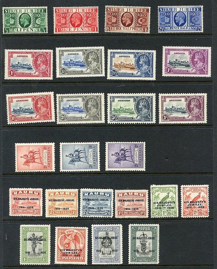 1935 Jubilee Omnibus set (less Egypt), UM. (249) Cat. £1400