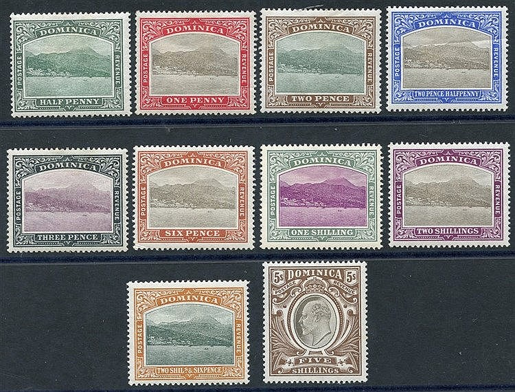 1903-07 CCC set, fine M (2½d creased), SG.27/36 (10) Cat. £225