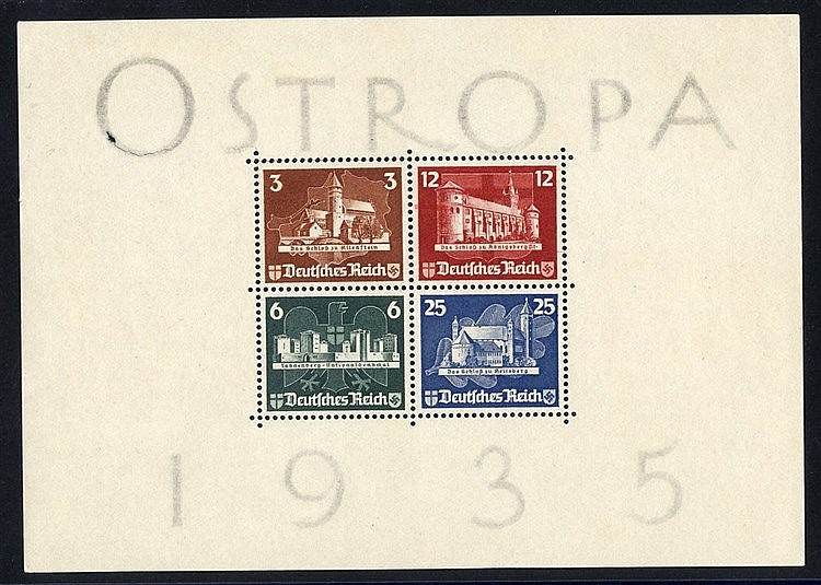 1935 OSTROPA M/Sheet, unused (gum removed as usual), some minor p