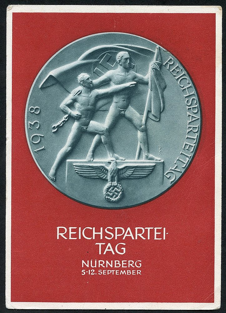 1937 Day of German Art, Munchen promotional card c.t.o. with 6pf