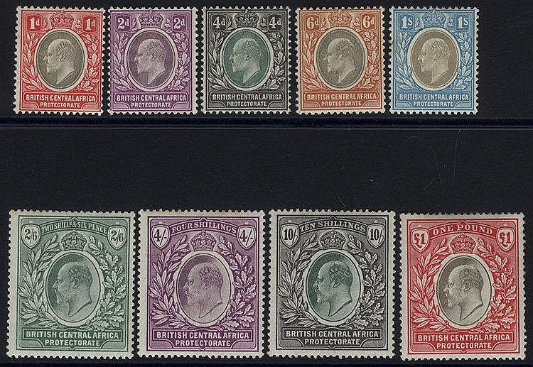 1903-04 CCA & CCC set, fine M, SG.59/67 (9) Cat. £650