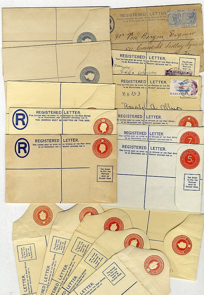 1890-1972 range of registered stationery envelopes incl. several