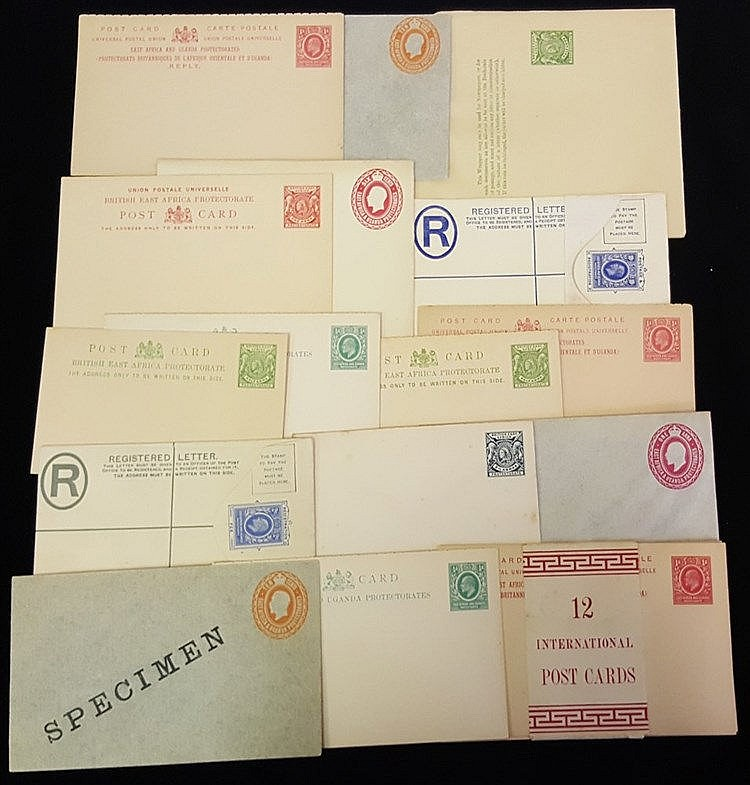 QV, KEVII & KGV range 29 items of unused postal stationery incl.