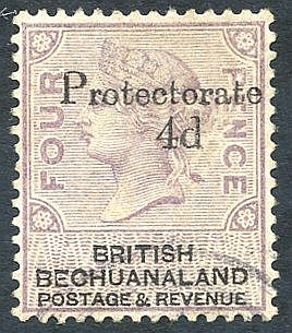 1888 4d on 4d lilac & black FU, SG.44. Cat. £500