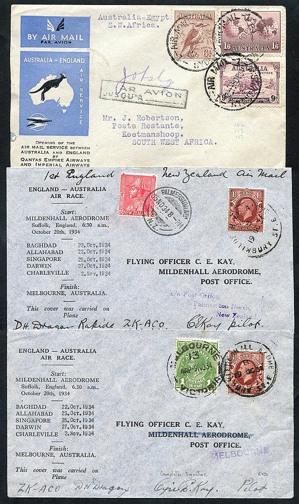 AIRMAILS 20thC International & Internal with pair of 1934 England