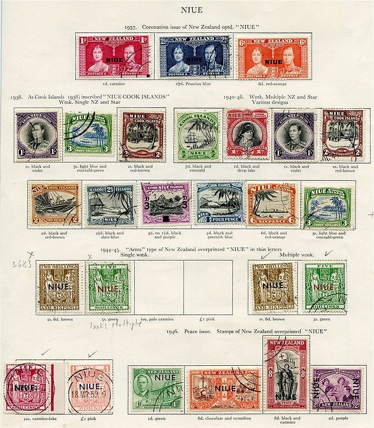 NIUE 1937-56 (36) & NORFOLK ISLAND (12) Cat. £353