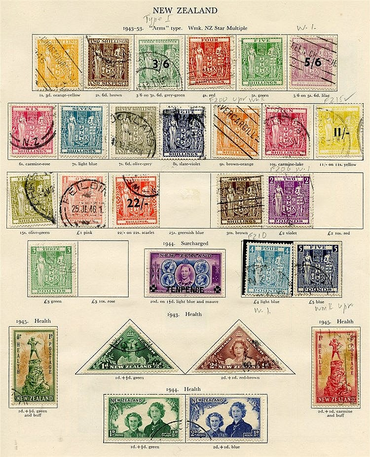 NEW ZEALAND 1936-51 generally complete except for some postal fis
