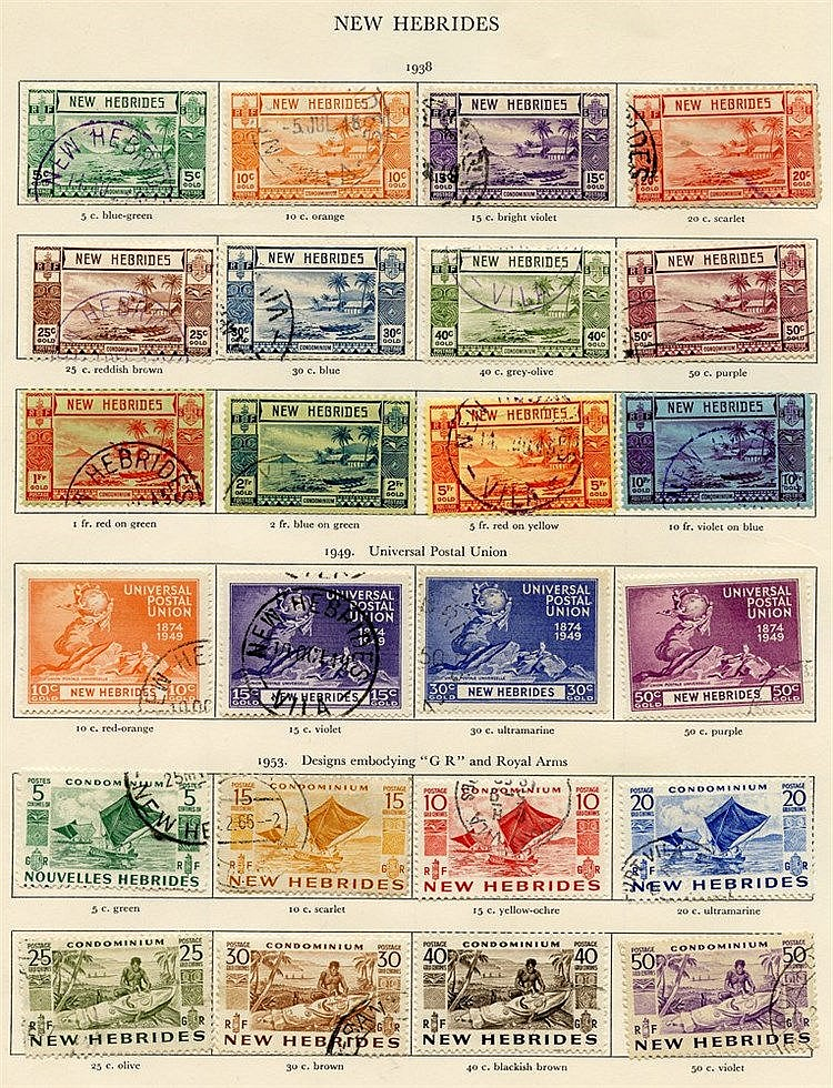 NEW HEBRIDES 1938-53 ENGLISH complete. (37) Cat. £660
