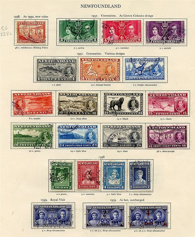 NEWFOUNDLAND 1938-49 complete. (34) Cat. £249