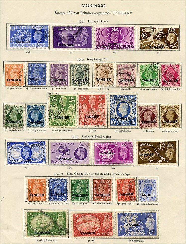 MOROCCO AGENCIES 1936-58 Tangier complete, Spanish Currency, Brit