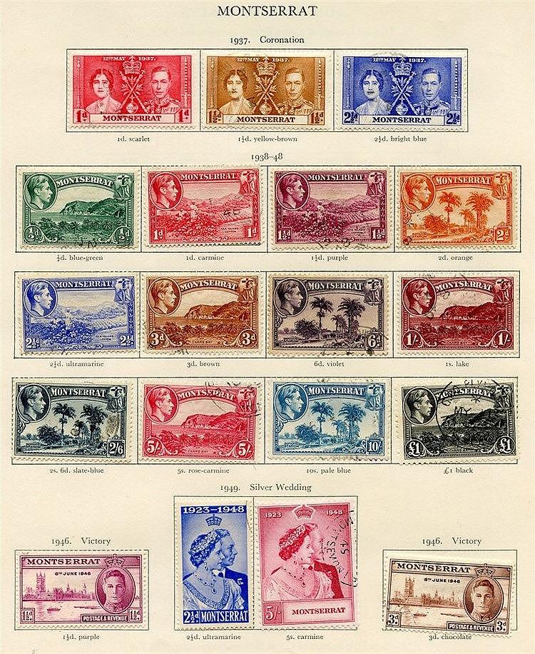 MONTSERRAT 1937-51 complete (38) & NIGERIA 1937-49 complete (27),