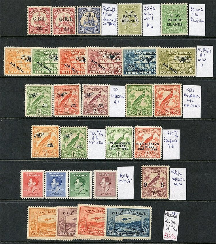 PACIFIC ISLANDS 1914-81 M & U ranges from Norfolk Islands, Papua