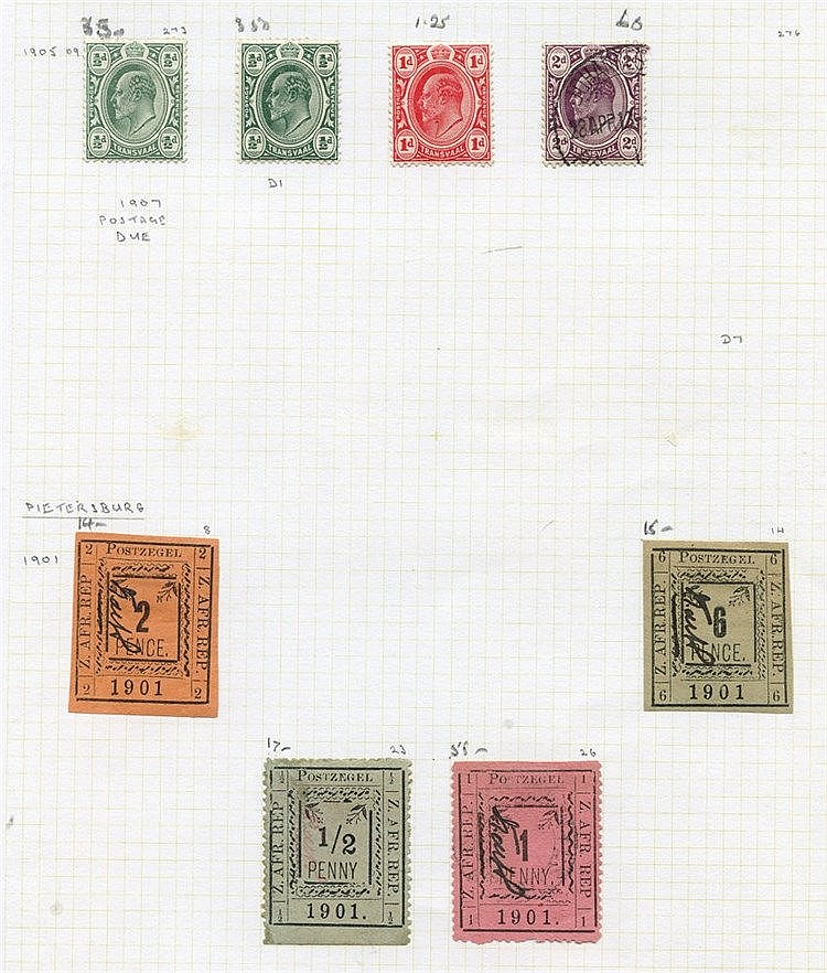BRITISH AFRICA M & U ranges on leaves comprising Natal (35) O.F.S