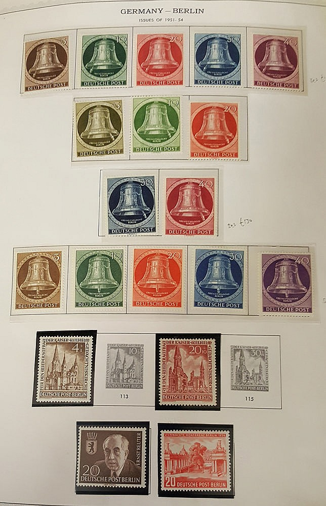 1948-90 substantial collection of M & U housed in a peg fit album