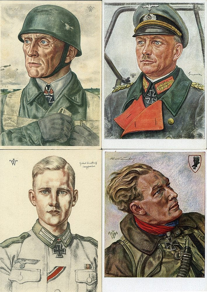 c1940's collection of coloured propaganda cards (39) mainly by Wo
