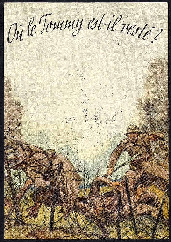 WWII German Anti British propaganda card, hold to light shows Bri