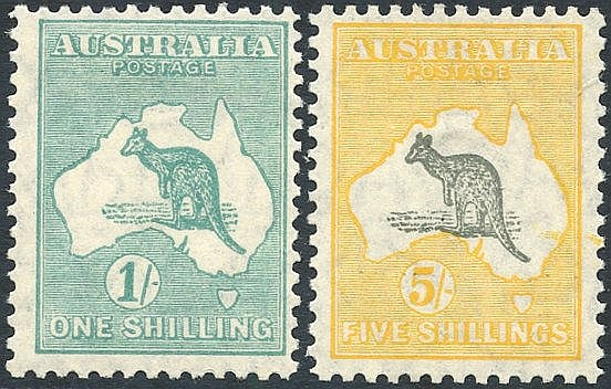 1929-30 1s & 5s, fresh M (1s is centred upper right), SG.1099 & 1