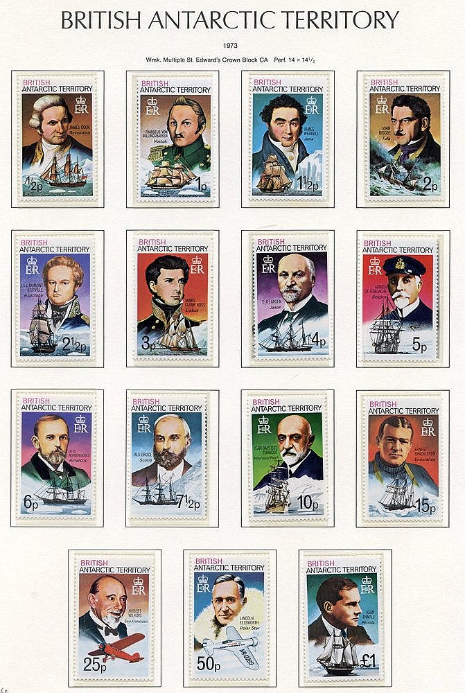 Collection on leaves with 1963 to 1s + 10s M, Churchill Scientifi