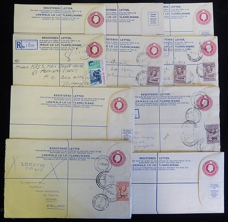 20thC KGVI 4d reg envelope with 2d (2) added & Maun cancels, QEII