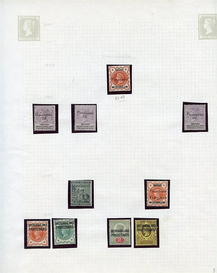 1886-1952 M collection on leaves incl. 1891 to 1s, 1888 6d on 6d,