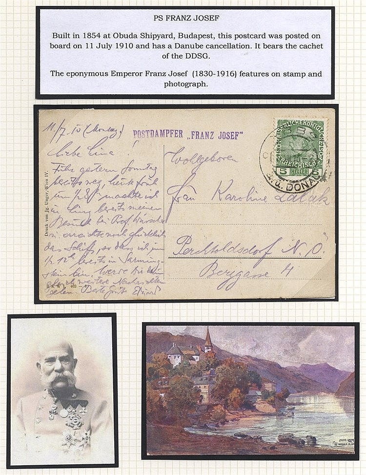 DANUBE STEAM NAVIGATION CO. SHIP MAIL - a lovely well written up