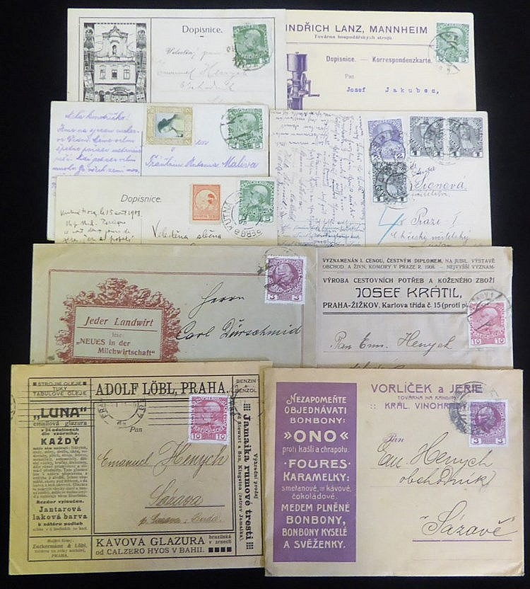 1908-16 Jubilee issue covers & cards with an interesting range of