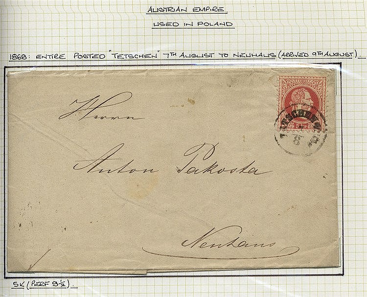 Collection in a Utile album of stamps & covers/cards from the 185