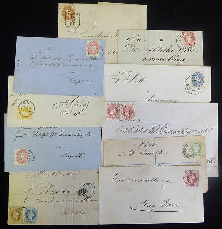 1860's-70's stamped covers etc. with a good variety of frankings