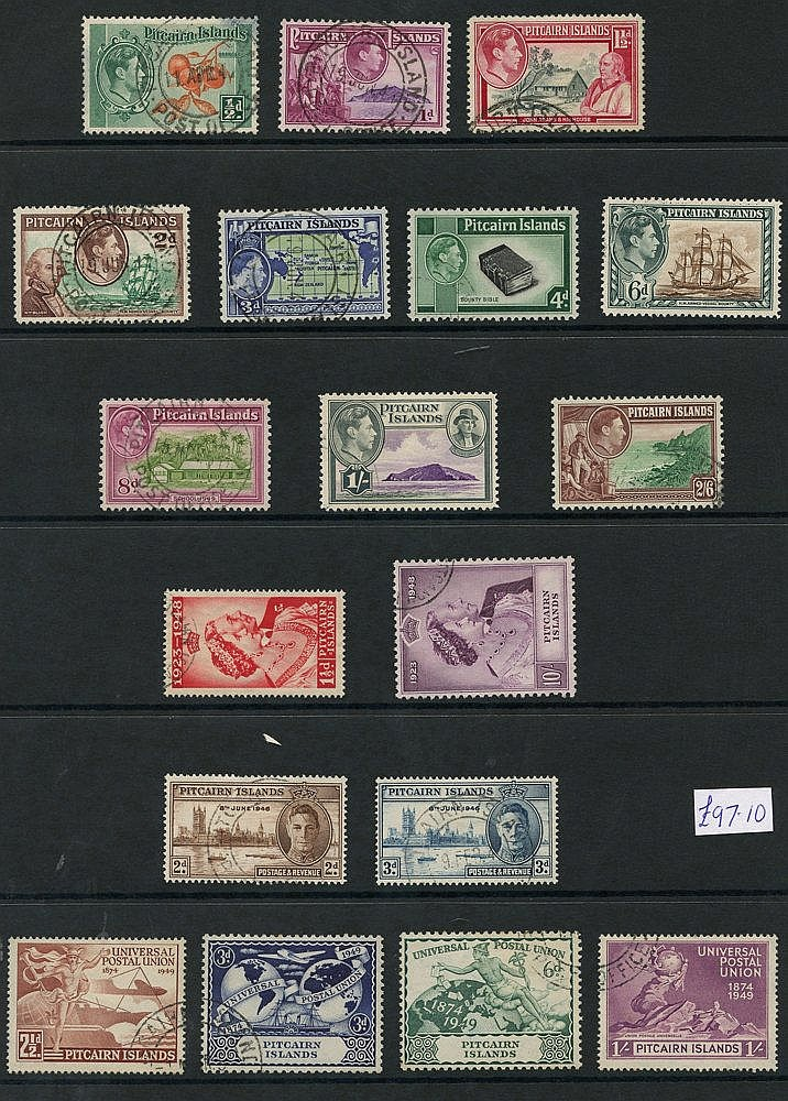 PAPUA 1937-39 complete (15), PALESTINE 1941 complete (3) & PITCAI