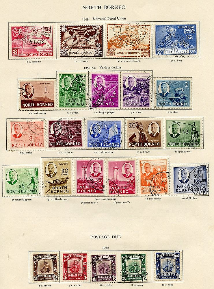 NORTH BORNEO 1939-42 complete. (74) Cat. £1992