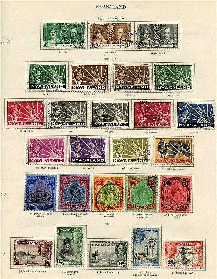 NORTHERN RHODESIA 1937-49 complete (32), NYASALAND 1937-51 comple