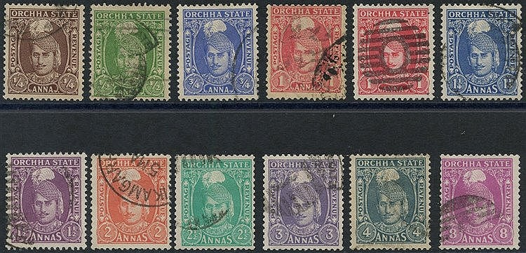ORCHHA 1939-42 set up to 8a with extra 1a, SG.31/41.
