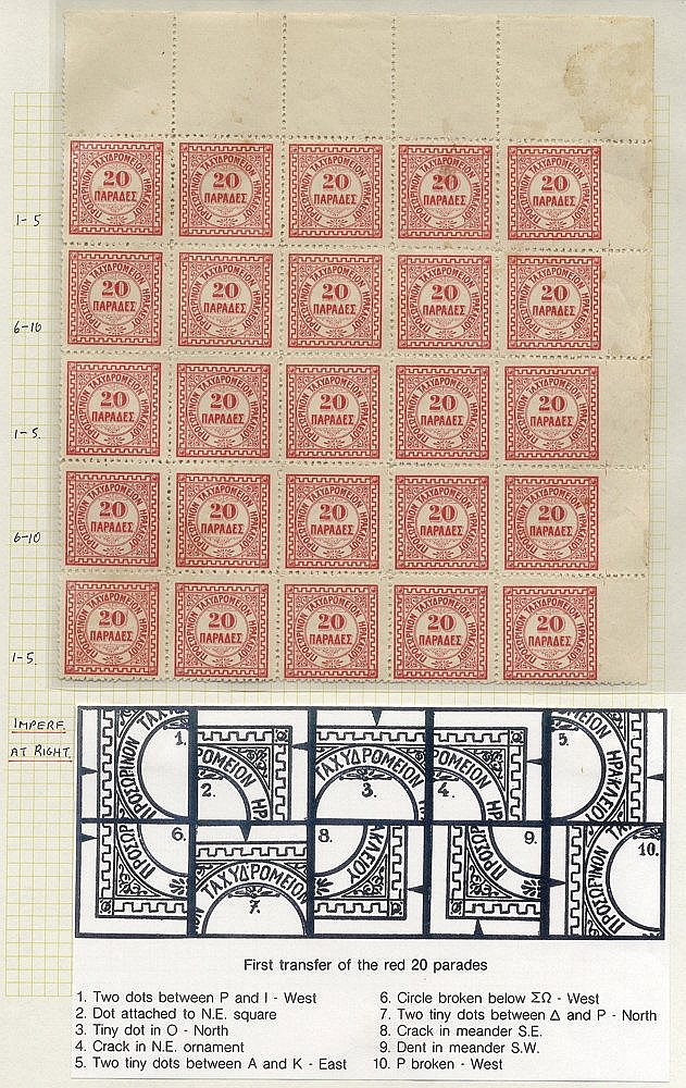 CRETE (Foreign Post Offices) 1868-1914 collection with Ottoman P.