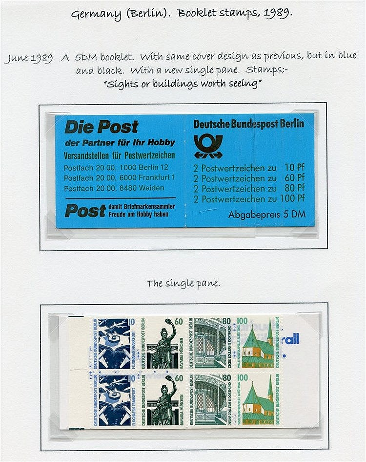 1989-2000 excellent range of attractive stamp booklets incl. impo