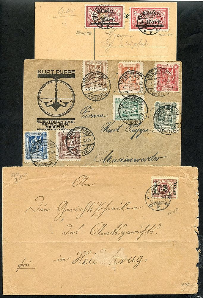 Post WWI 'lost' territory - 1920 cover with Marienwerder vals to