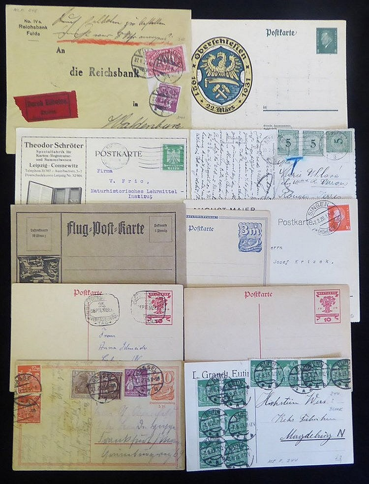 1920's covers & cards with a good variety of single, multiple & c