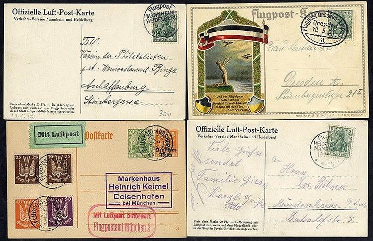 1912 special flight Heidelberg - Mannheim official card, same car