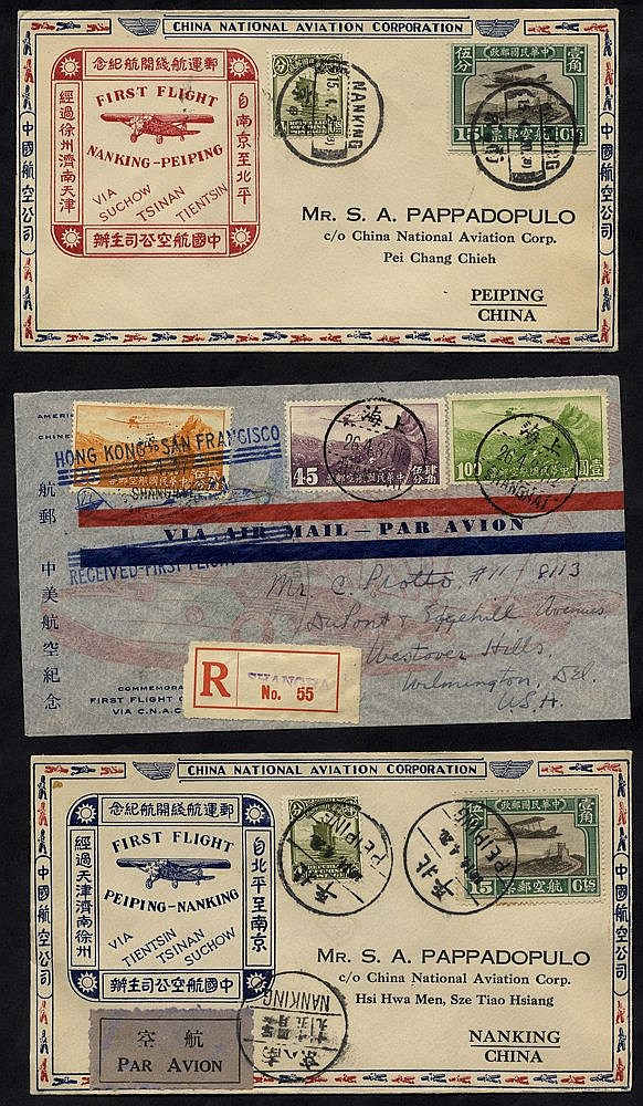 1931 & 1937 first flight covers (3), first two - China National A
