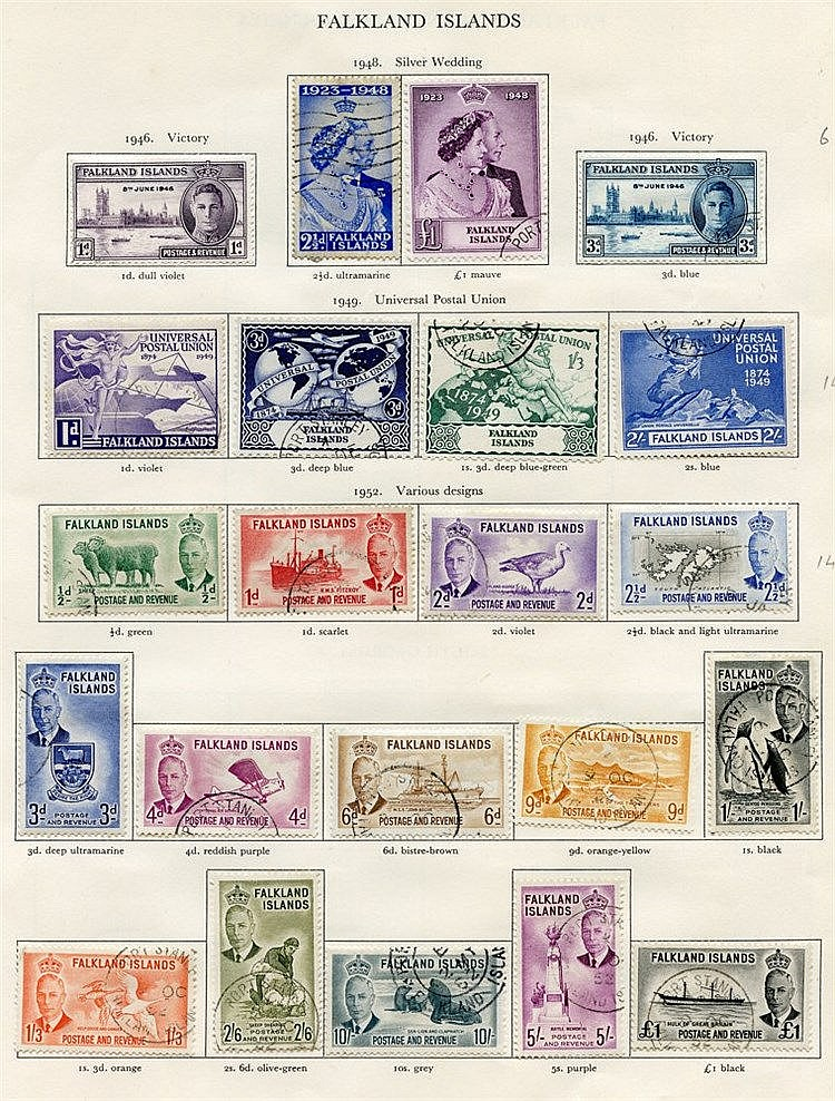 FALKLAND ISLANDS & F.I.D 1937-52 complete (92) Cat. £508