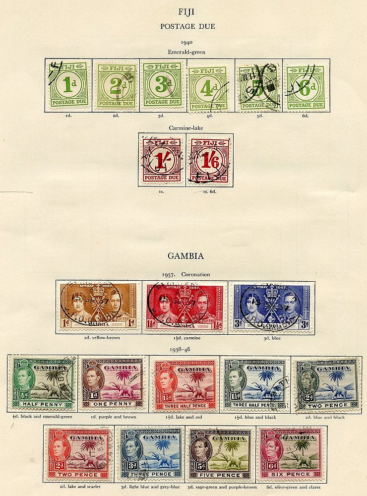 FIJI (41) & GAMBIA (27) 1937-51 complete. Cat. £874