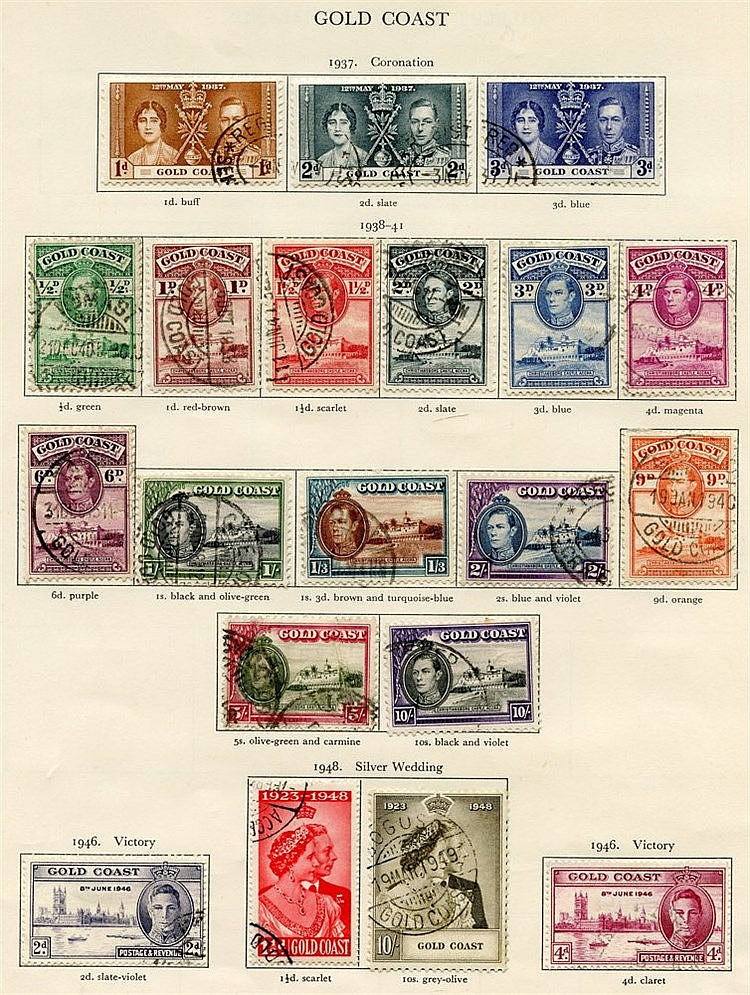 GOLD COAST (36) & GRENADA (42) 1937-51 complete. Cat. £256