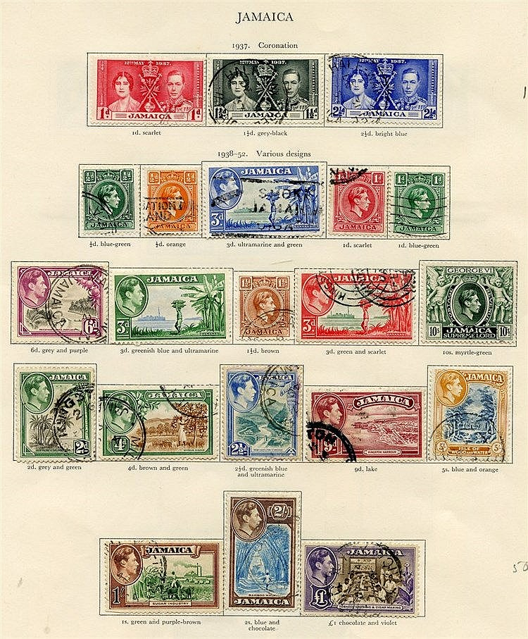 IRELAND (54) virtually complete incl. Av examples. JAMAICA (40) c